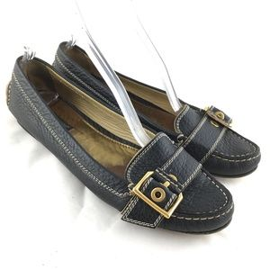 Dolce & Gabbana Flat loafers black leather buckle